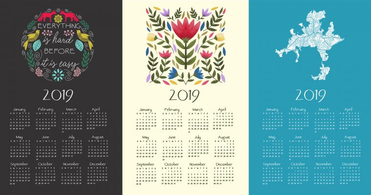 Free Calendar Template for 2019 | Design Your Own Calendar!
