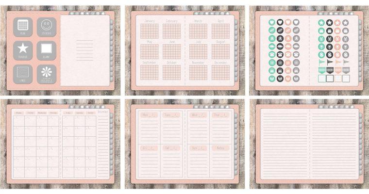 Free Digital Planner + 64 Digital Planner Stickers