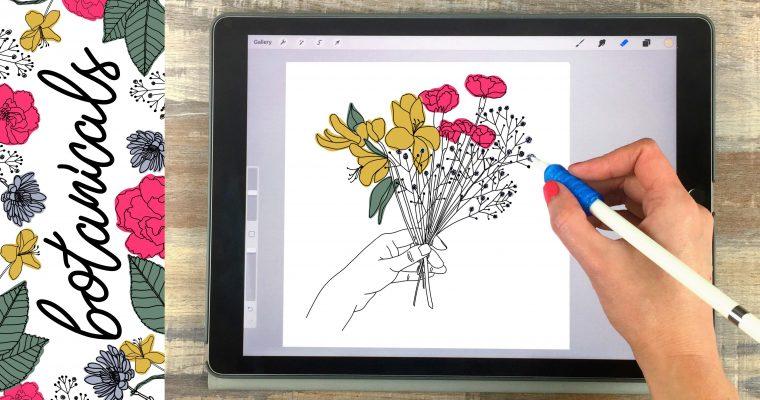 How to Create Botanical Illustrations on Your iPad in Procreate + 15 Free Procreate Brushes