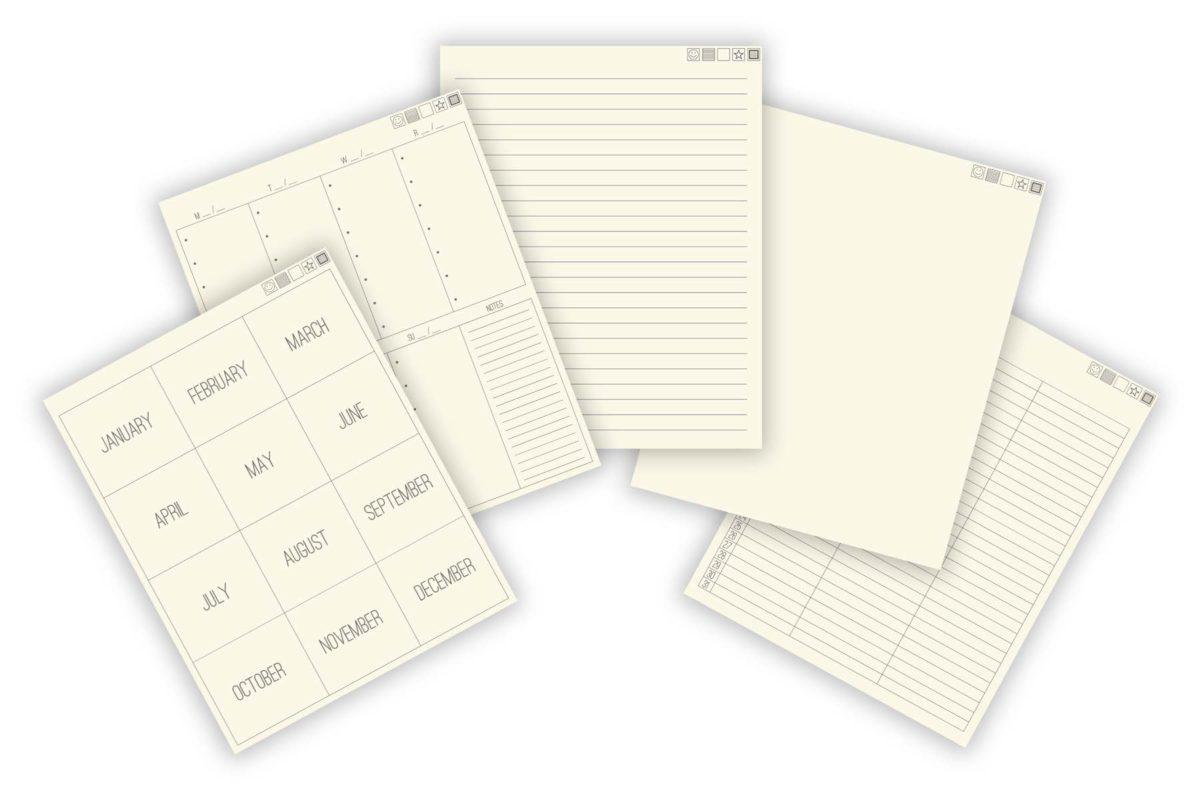 Free Minimalist Digital Bullet Journal + 64 Stickers