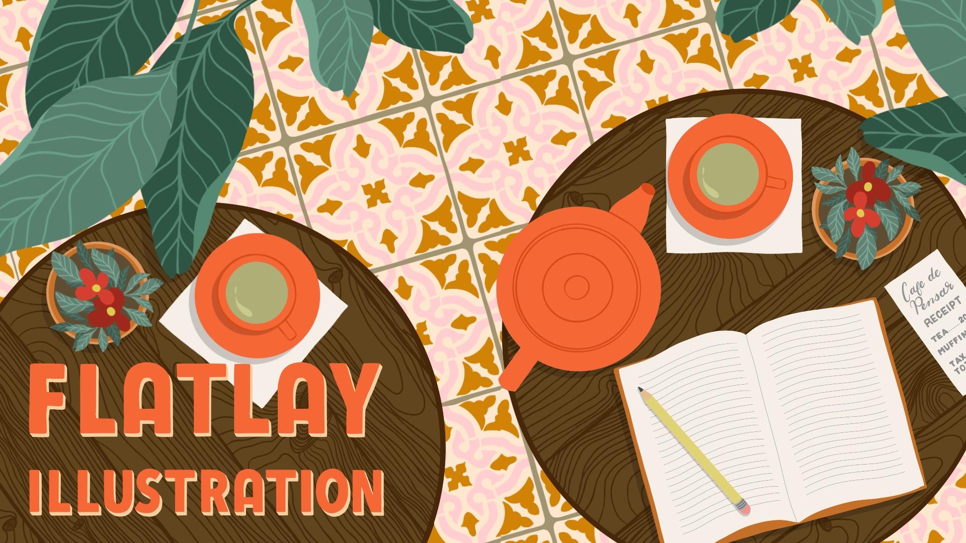 Flatlay Illustrations in Procreate + 6 Free Tile Floor Brushes